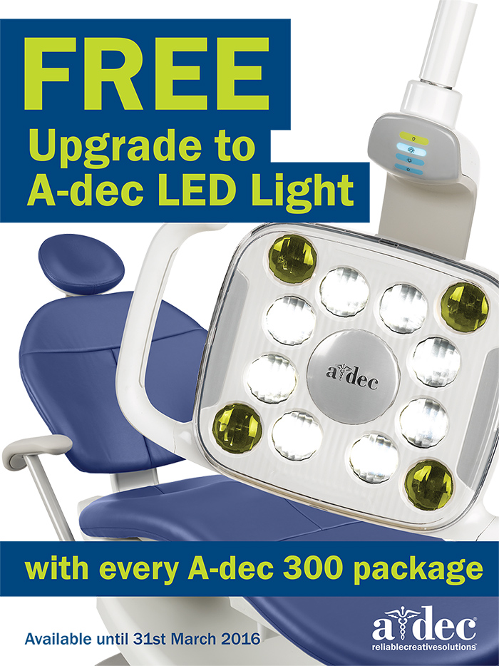 A-dec LED light upgrade promotion Q1 2016